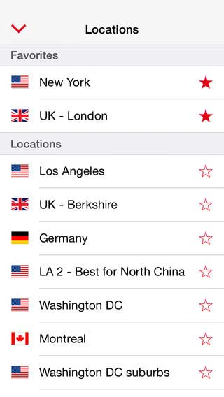 There's loads of VPN locations!