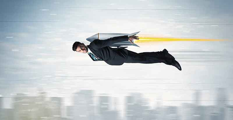 A man strapped to a rocket proves VPNs are not slow. Somehow.