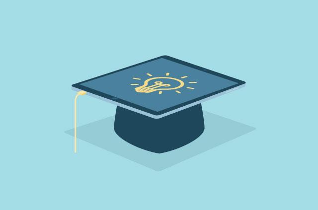 An illustration of a graduate's cap.