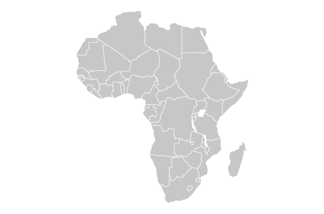 A map of Africa.