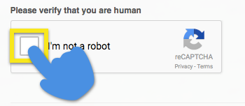 click the box to verify you are a human