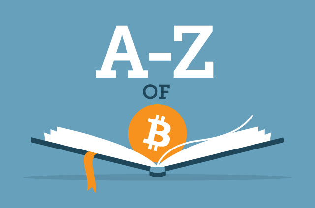 An illustration of an open book with a Bitcoin logo inside it.