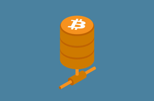 It looks like some kind of electrical junction with a Bitcoin logo on it.