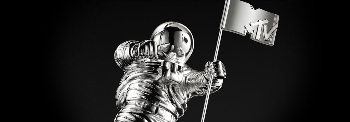 mtv moonman in black and white