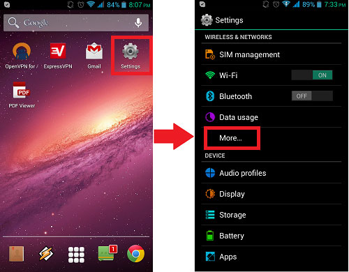 android select more settings