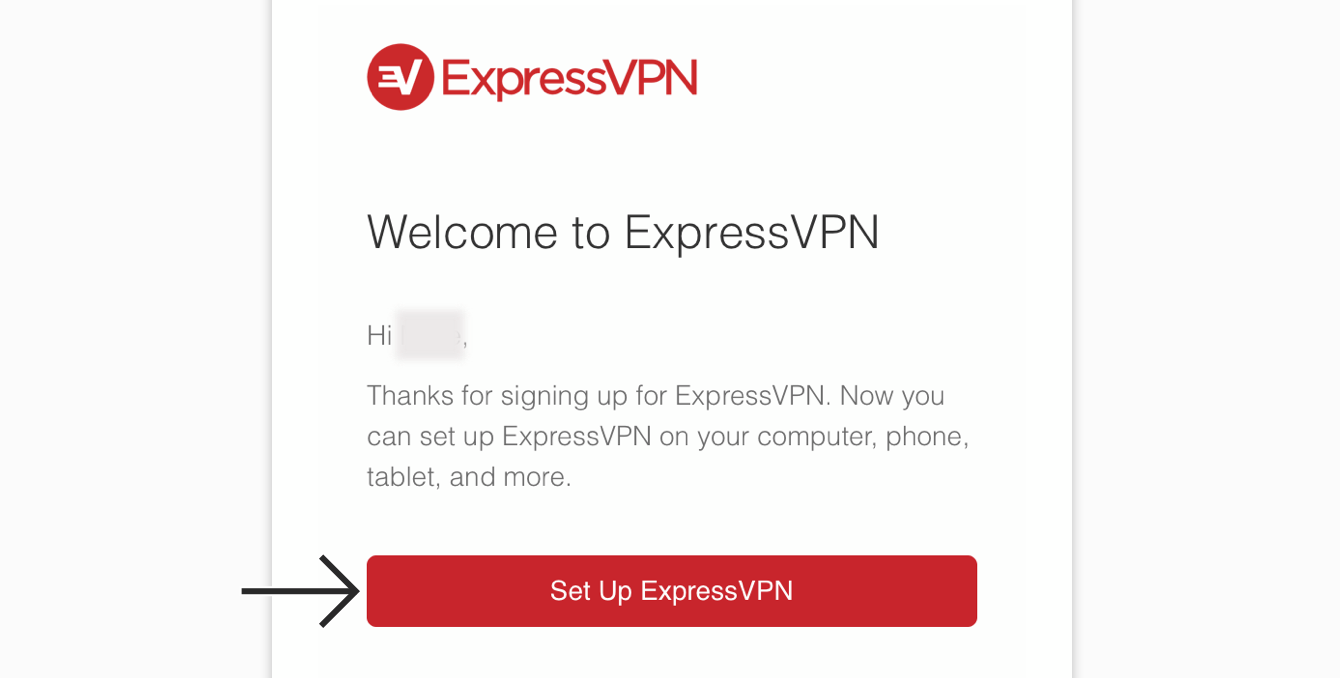 """Tap """"Set Up ExpressVPN."""""""