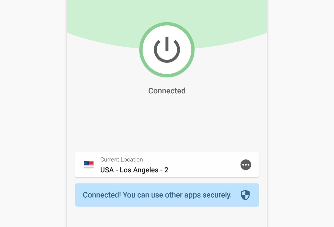 You are connected to the ExpressVPN.