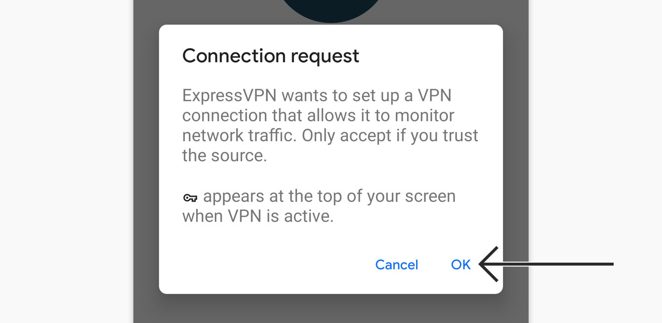 "Tap ""OK"" to approve connection request."
