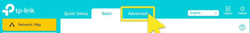 click advanced