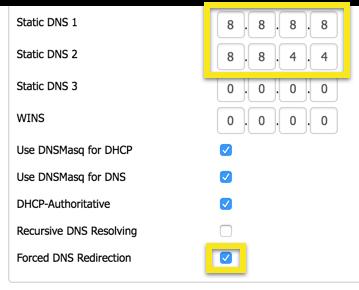 dd-wrt static dns settings