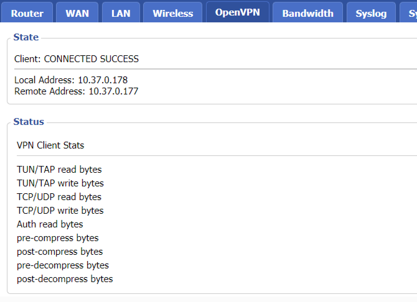Your OpenVPN connection is successful.
