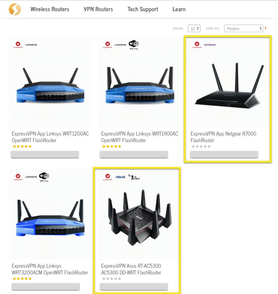 Select an ExpressVPN DD-WRT router.