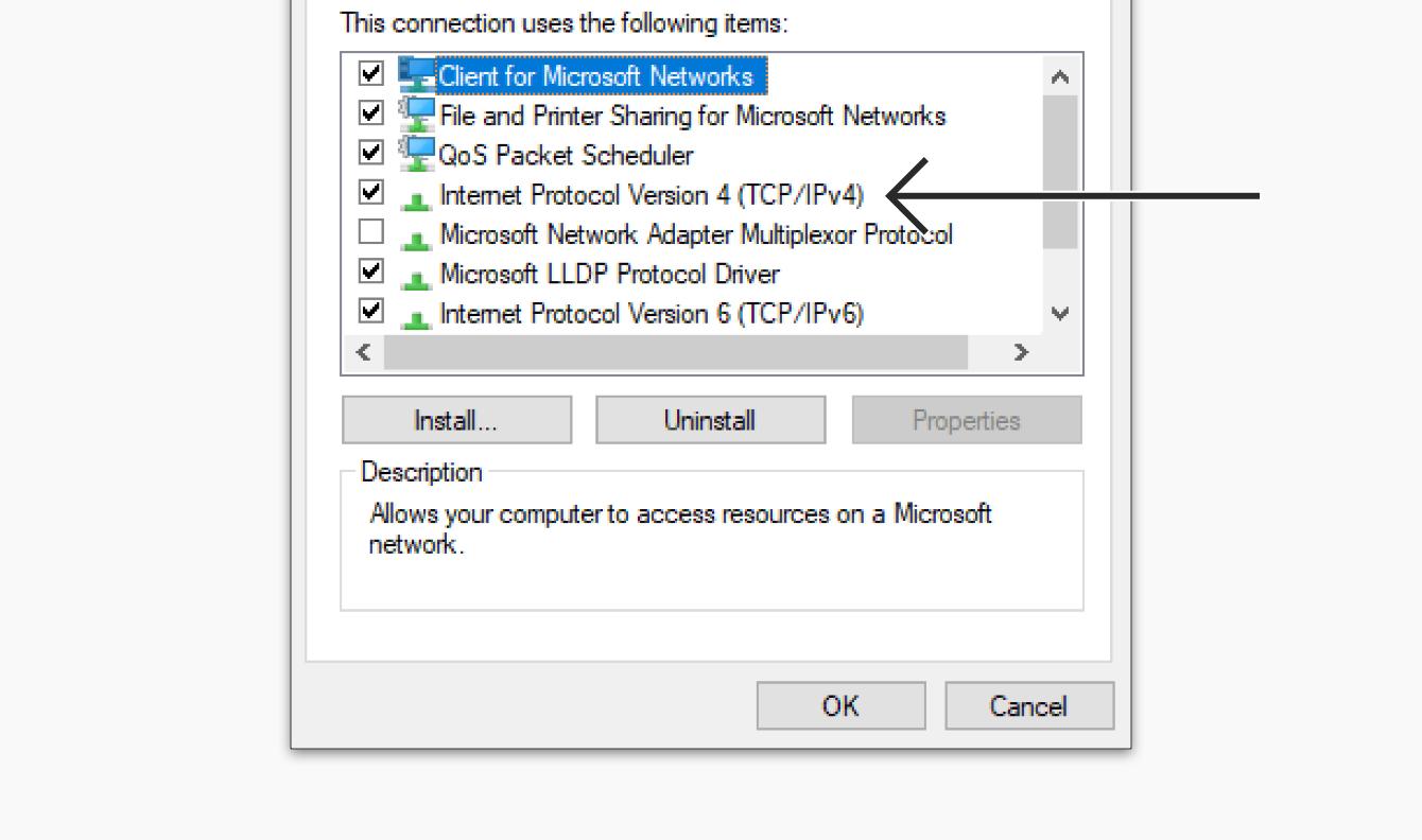 Double-click Internet Protocol Version 4.