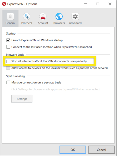 Disable the Windows network lock.
