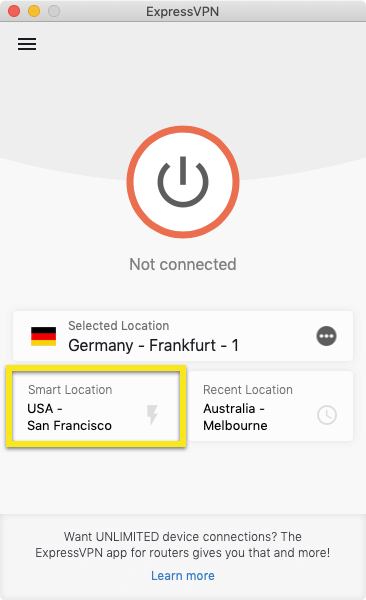 Click on the Smart Location.
