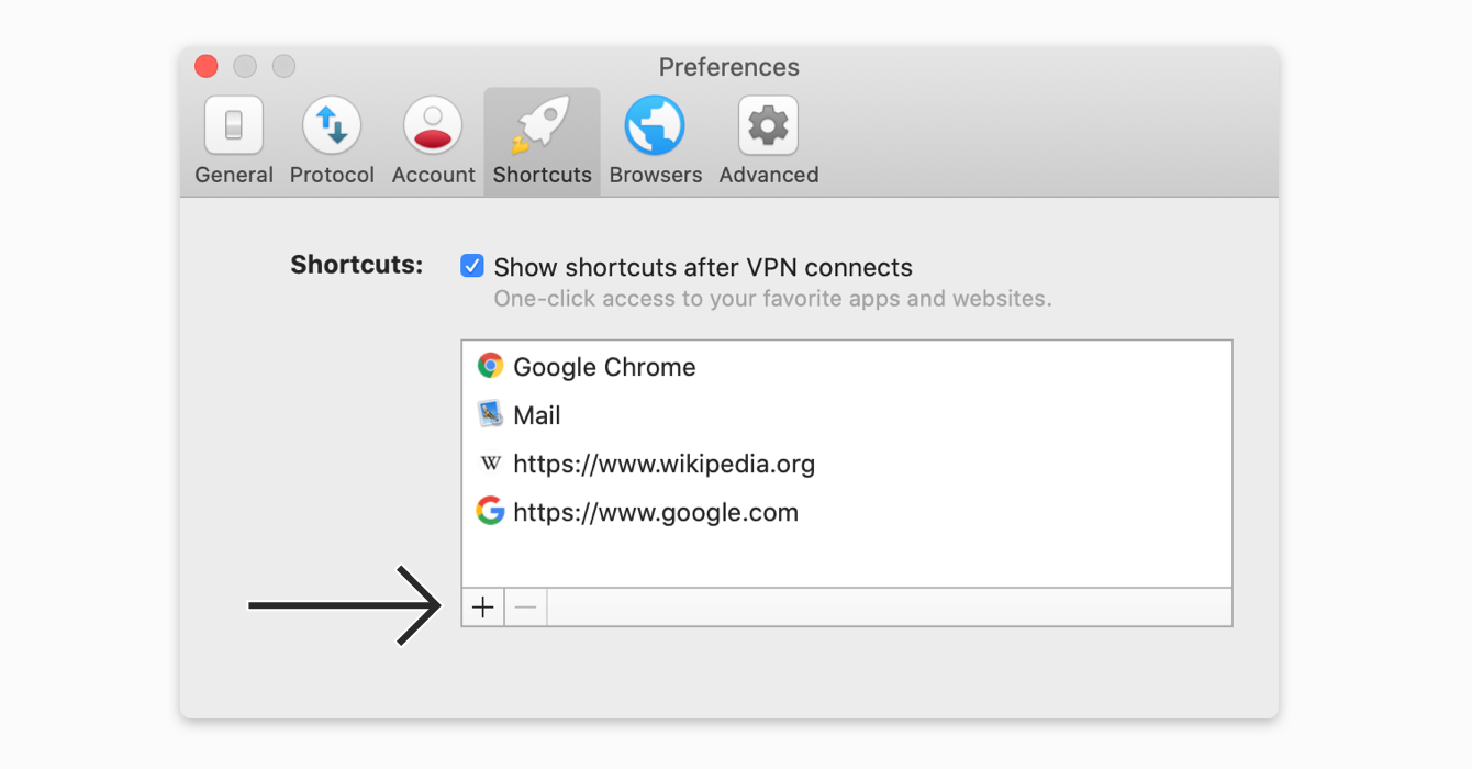 Add a shortcut in the Preferences menu.