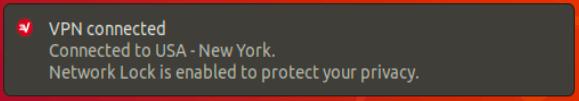 Riceverai una notifica quando ExpressVPN è connesso.