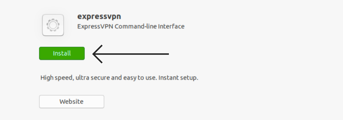 """Click """"Install"""" to download the ExpressVPN installer file."""