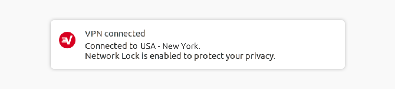A notification indicates that you are connected to the ExpressVPN.
