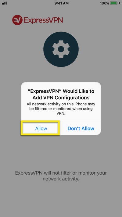 Add VPN configurations for ExpressVPN on iOS.
