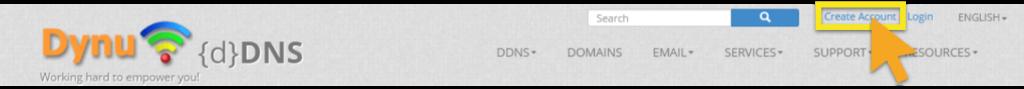 Dynu-Account erstellen
