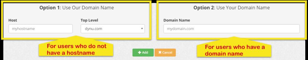create hostname