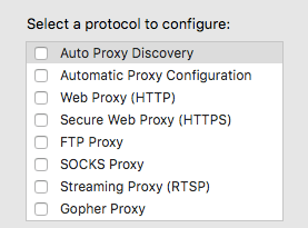 protocol settings