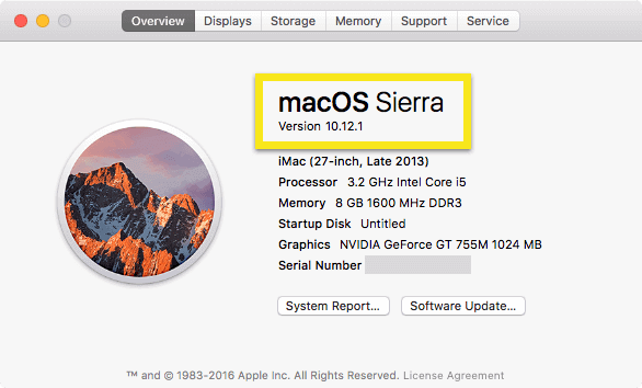 find your macOS version