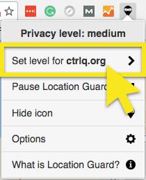 set level for website