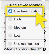 use fixed location
