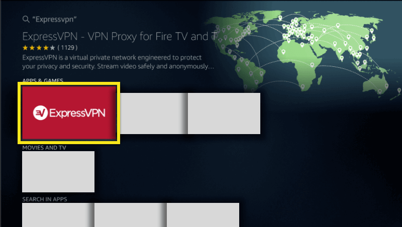 Select ExpressVPN from the search results.
