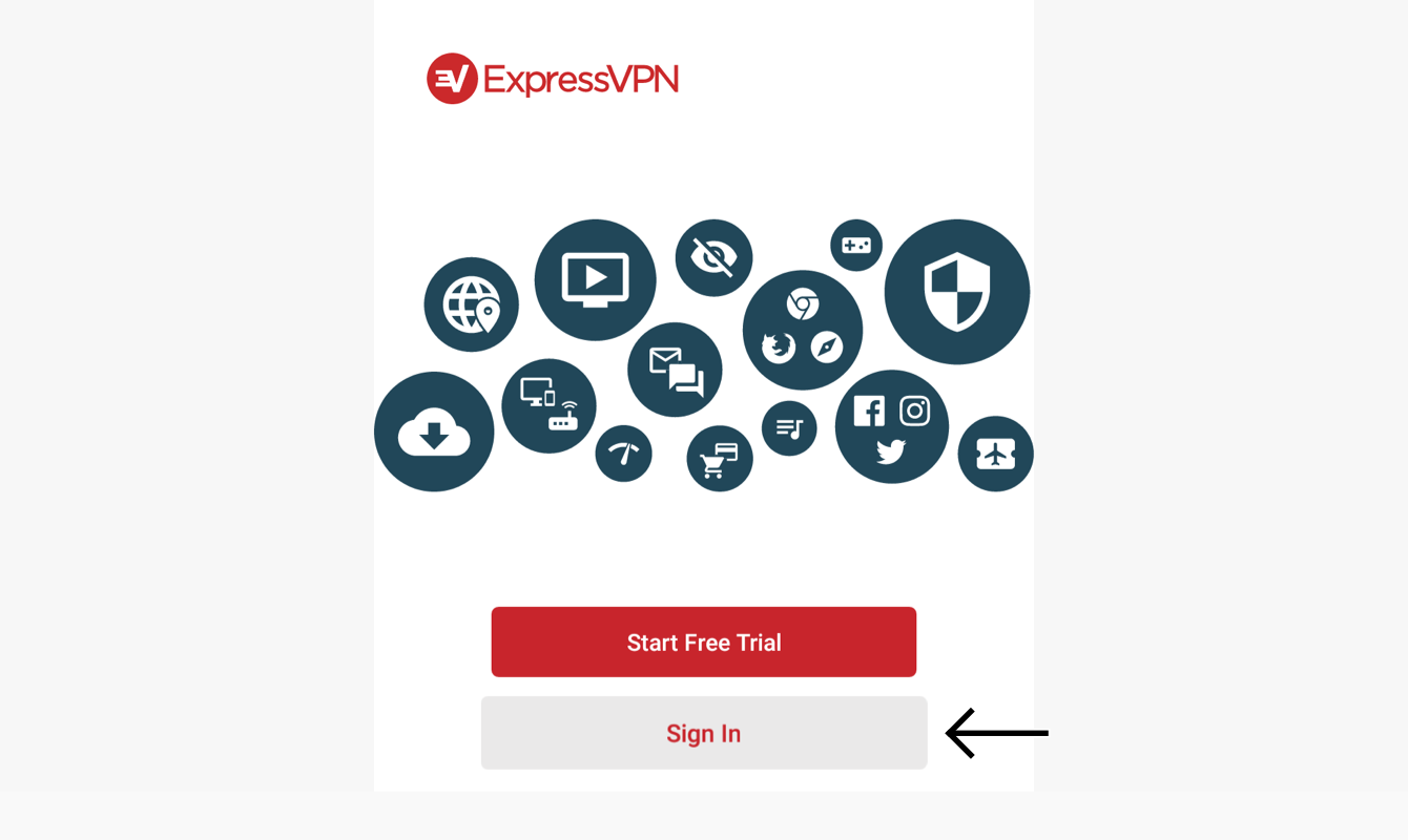 Sign in to your ExpressVPN account.