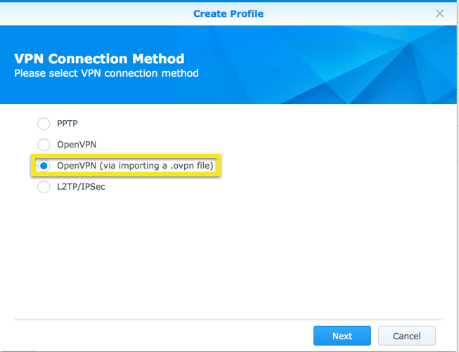 synology open via import