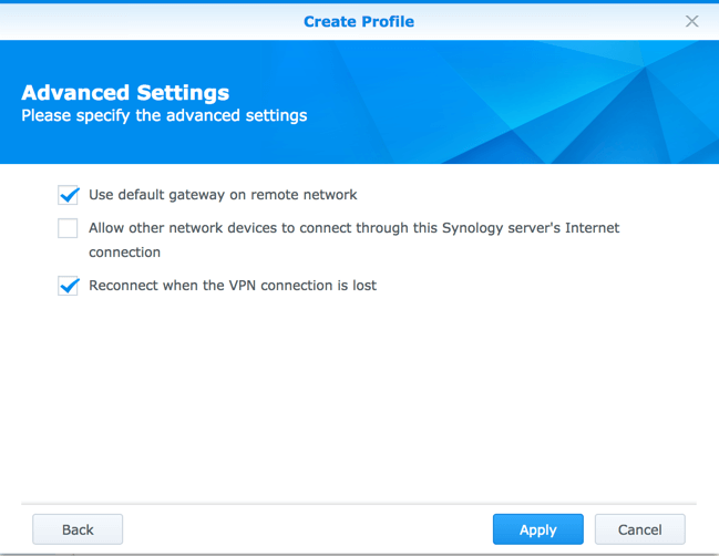 synology openvpn settings