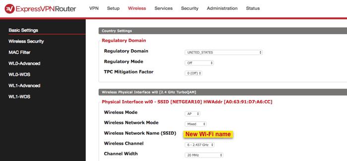 dd-wrt new wifi name