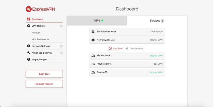 Configurez les appareils sélectionnés pour pour utiliser le VPN.