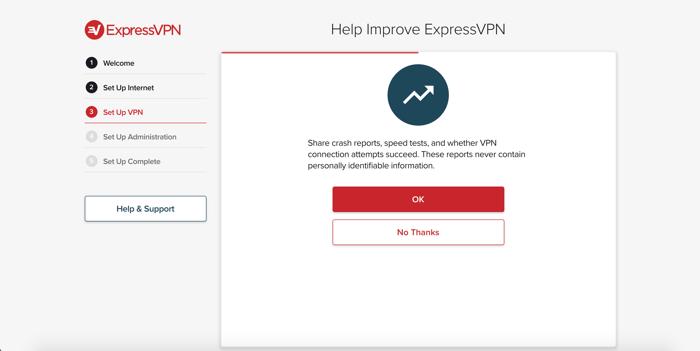 Partager les donnée analytiques pour ExpressVPN.